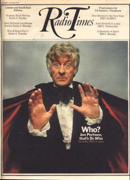 """Um Doutor novo na capa da revista """"Radio Times"""", 1970"""