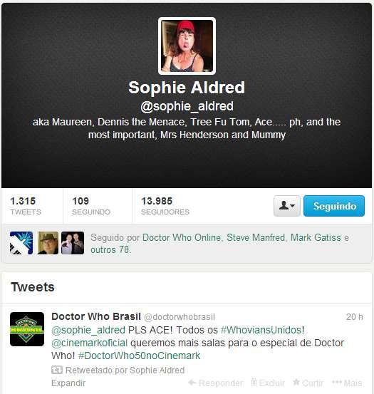 Sophie Aldred  sophie_aldred  no Twitter