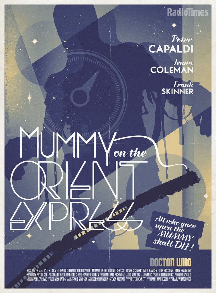 Doctor Who - Radio Times Poster - Mummy on the Orient Express
