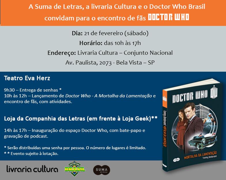 Convite Doctor Who