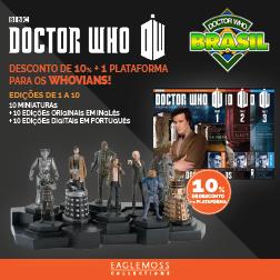 Doctor Who Brasil oferece desconto nas miniaturas da Eaglemoss