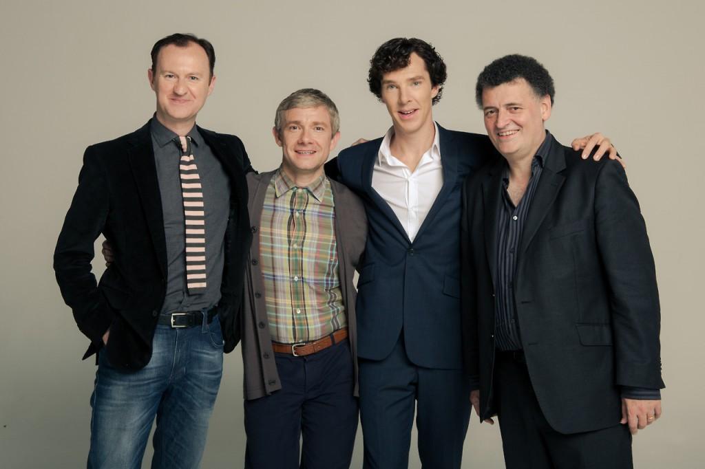 Mark Gatiss, Martin Freeman, Benedict Cumberbatch e Steven Moffat: Sherlock