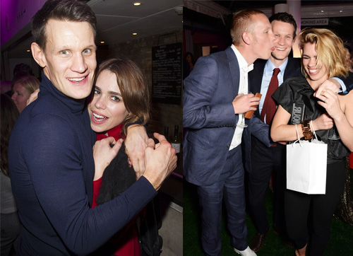 Matt Smith, Billie Piper e Laurence Fox: amigos