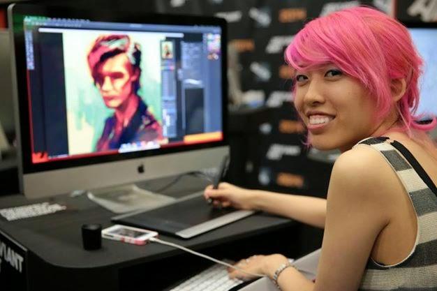 Alice X. Zhang no meio do processo criativo do 11º Doutor