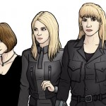 Raine-Creevy-Sally-Morgan-e-Lysandra Aristedes-Doctor-Who-Paul-Hanley