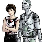 Tegan-e-Kamelion-Doctor-Who-Paul-Hanley