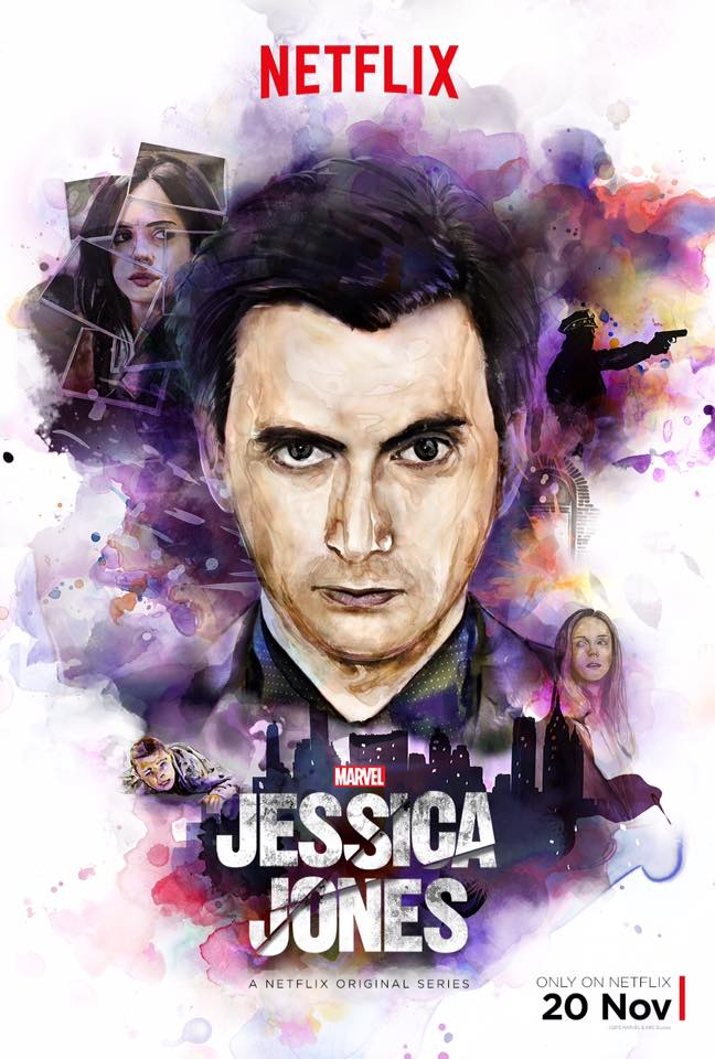 David Tennant Jessica Jones Poster Doctor Who Brasil