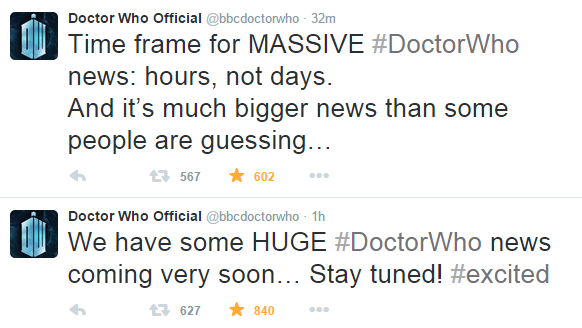 doctor who big announcement