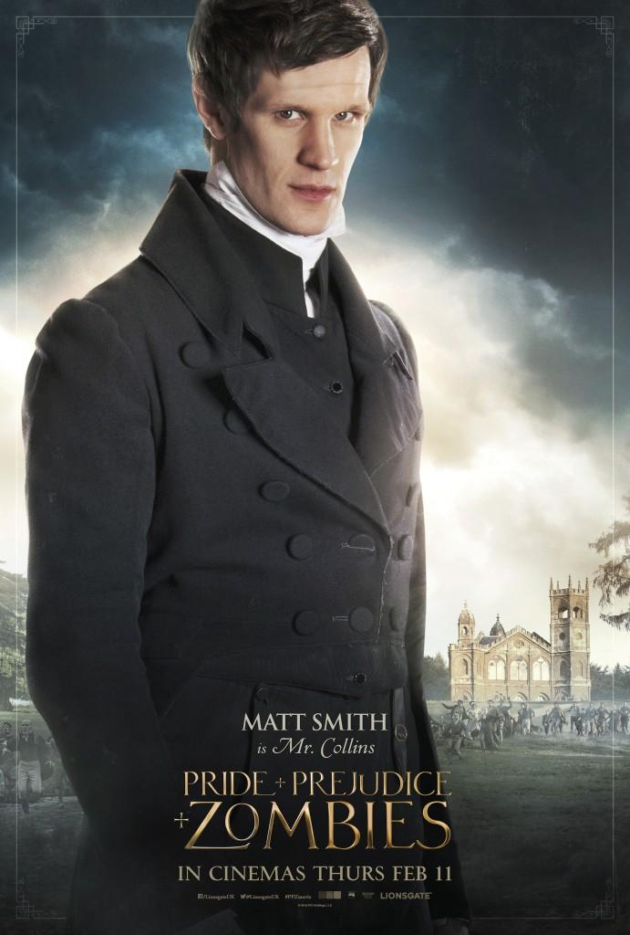 matt smith orgulho preconceito zumbis poster